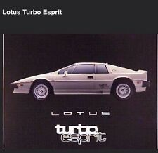 Lotus Turbo Esprit Out of Print Extremely Rare! Limited Quantities Car Poster!