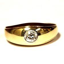 14k yellow gold .40ct VS2 I European diamond wedding band mens ring 5.3g gents