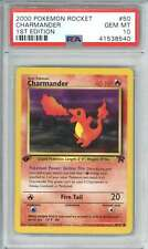 New listing Charmander 2000 Pokemon Rocket 1st Edition Trading Card #50 Psa 10