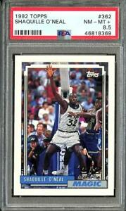 1992 Topps Shaquille Oneal RC Rookie PSA 8.5 NM-MT+ #362