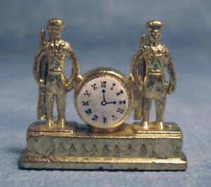 Dollhouse Miniature Soldiers Mantle Clock