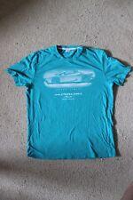 Lamborghini Huracan Spyder Tee Shirt Size X-Large XL Teal Shirt Senza Cars Shirt