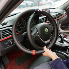 NEW M sports Carbon Fiber Steering Wheel Cover Carbon Fiber Decal 38CM
