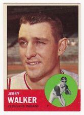 JERRY WALKER 1963 Topps Baseball  # 413 Cleveland Indians Ex Plus