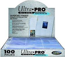 More details for ultra pro silver series 9 pocket a4 pokemon mtg trading card sleeve pages 1-200