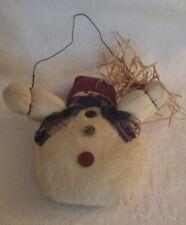 "Snowman Door Hanging Decoration Fabric 15"" Tall"