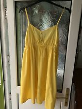 Ladies ASOS Yellow Summer Strappy Dress size 18