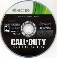 Replacement Install Disc #2 For Call Of Duty Ghosts Xbox 360 Refurbish Free Ship