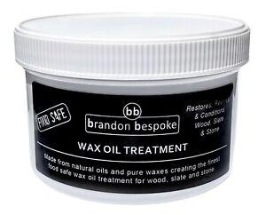 Brandon Bespoke Wax Oil Treatment - Food Safe - For Wood, Slate and Stone