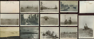 WW1 GERMANY NAVY SHIPS RP PPCs Before + After Sinking in Scapa... PRICED SINGLY