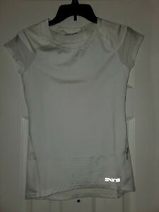 New Women Skins Primary Short Sleeve Compression Top White S