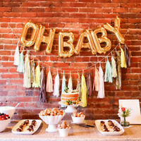 """""""OH BABY"""" Foil Balloons Baby Shower Party Event Supplies Inflation Balloons DIY"""
