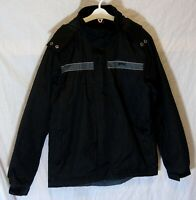 Boys Slazenger Black Fleece Lined Waterproof Hooded School Coat Age 11-12 Years