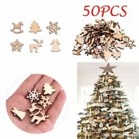 Wooden Ornaments Christmas Tree Hangings Tiny Home Decoration Pendants Supplies