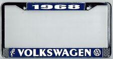 1968 Volkswagen VW Bubblehead Vintage California License Plate Frame BUG BUS T-3