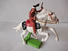 BRITAINS DEETAIL MOUNTED APACHE RARE PINTO HORSE
