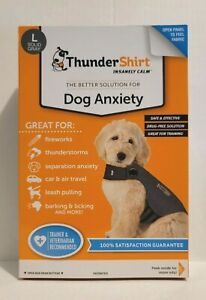 ThunderShirt Classic Dog Anxiety Jacket, Heather Gray, LARGE-Brand New