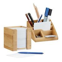 2 tlg. Schreibtisch Set Schreibtischorganizer Stiftebox Zettelbox Notizzettel