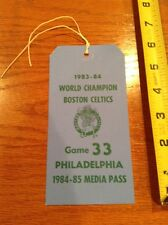 1984-85 Boston Celtics 1983-84 World Champion vs Philadelphia game 33