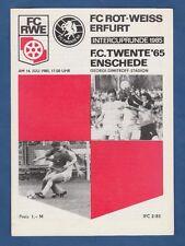 Orig.PRG  IFC / Intertoto Cup  1985  ROT WEISS ERFURT - FC TWENTE ENSCHEDE  !!