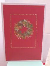 7 Hallmark wreath Christmas Cards & with designed  Envelopes