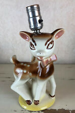 """Vintage Deer Fawn Bambi Pottery lamp 7.5"""" tall"""