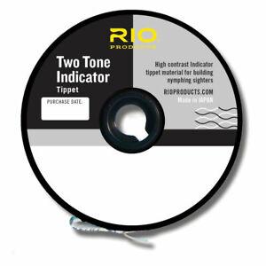 RIO 2-Tone Indicator Tippet (BLACK & WHITE)