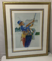 1990s Doug Keith FORE! Limited Edition Signed Art Print Golf Golfing Lee Trevino