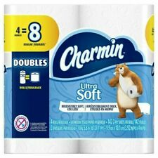 Charmin Ultra Soft 2-Ply Bath Tissue Paper, 4 Double Rolls - 142 Sheets Per Roll