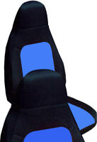 Fits 01-06 Mazda Miata  front set car seat covers  black and light blue
