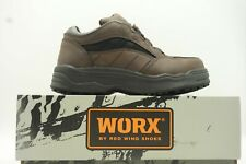 Red Wing Shoes Worx Brown Leather Steel Toe Lace Up Work Shoe Womens 6.5 WW