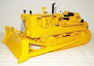 CCM 1:24 Brass Model-CAT D8H Cable Blade Track Type Push Dozer Yellow NIB