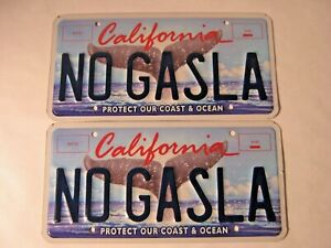 "PERSONALIZED VANITY California License Plate ""NO GASLA""  TESLA MOTORS ELON MUSK"