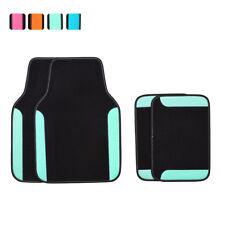 Car Floor Mat Unviersal Mint Black For Honda Hyundai Toyota  4 PCS PU Leather