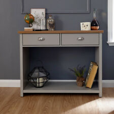 Lancaster Grey & Oak Coloured Occasional Range - Tables Sideboard TV Cabinets Console Hall Table