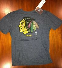 Chicago Blackhawks Logo CCM Distressed Premium Tri-Blend T-Shirt Large