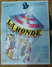 DANIELLE DARRIEUX LA RONDE MAX OPHULS 1950 POSTER AFFICHE ORIGINAL