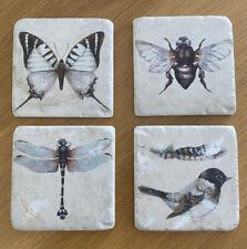 4 Set Tile Coasters UK Wildlife