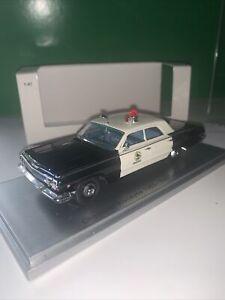 Kess Chevrolet Biscayne San Carlos Police Dept. 1963 Black White - 1:43