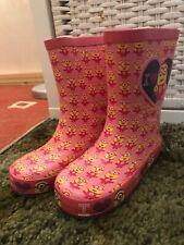 Girls Pink MINION Wellie Boots  -  Size 8