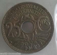 25 centimes lindauer 1929 : TB : pièce de monnaie française