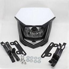 12V 35W Headlight White+Black Motorcycle Street Fighter Bike Ghost Face Headlamp