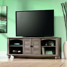 "Sauder 415055 Harbor View Entertainment Credenza Holds Up To 60"" TV, in Salt Oak"