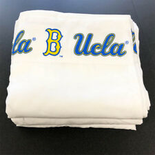 2pc NCAA UCLA Bruins King Size Sheet Set - Microfiber Flat Fitted Sports Logo