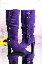 Gibellieri 962 Hot Purple Suede Slouchy Boots 35 / US 5
