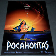 POCAHONTAS 1995 ORIG. ROLLED DS 27x40 MOVIE POSTER! MEL GIBSON DISNEY ANIMATION!