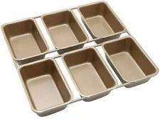 HOMARTY 6-Cavity Carbon Steel Nonstick Mini Loaf Cake Pan Bakeware 3.9x2.6