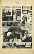 Legion of Monsters 1 ORIGINAL DRACULA ART PAGE Dick Giordano`75 Vampire Bat Drac