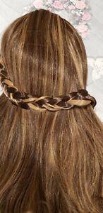 Stranded Chunky plait braided headband hairpiece clipped braid hairband 4/27