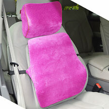 Memory Foam Car Seat Cushion Lumbar Back Support + Head Rest Neck Travel Pillow